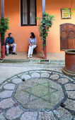Patio of the ancient jewish house — Stock Photo
