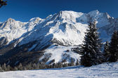 The Alps in winter — Stok fotoğraf