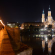 Zaragoza at night. — Stock Photo