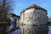 Hallwyl castle on the lake Hallwil. — Stock Photo