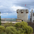 Almodovar castle against the storm sky — Stock Photo