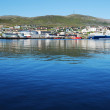 Blue water of fjord against the northernmost city Hammerfest. — Stock Photo #35132997