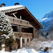 Stock Photo: Ski chalet in the French Alps