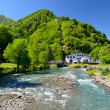 Small hydroelectric power station in the Pyrenees — Stock Photo