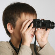 A child with binoculars — Stock Photo