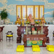 Stock Photo: Inside of Taoist temple