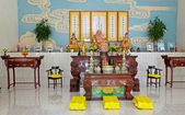 Inside of the Taoist temple — Stock Photo