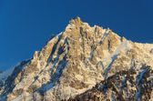 The Aiguille du Midi in winter — Stock Photo