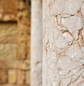 Close-up of the ancient marble column — Stock Photo
