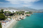 Nerja on the Spanish Mediterranean seacoast — Stock Photo