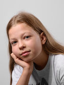Close-up of the pre-teen girl — Stock Photo
