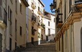 Stone stairs in the ancient Spanish town — Stock Photo