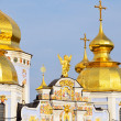 Golden top of the Saint Michael Cathedral in Kiev — Stock Photo