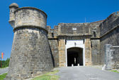 Medieval entrance of the French fortified town — Foto Stock