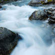 Close-up of mountain stream at long shutter speed. — Stock Photo