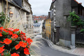 Old fashioned street of the french town. — Stock Photo