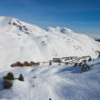 Ski resort in the winter Pyrenees — Stock Photo