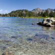 Clear lake in the summer Pyrenees — Stock Photo