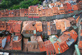 Old city of Fribourg from above. — Stock Photo
