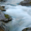 Постер, плакат: Mountain water stream at long shutter speed