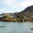 Small island with tiny fishing village in the middle of fjord. Mageroya. — Stock Photo