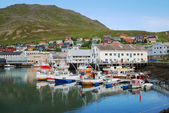 The most northern fishing village of Mageroya. — Stock Photo
