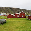 Norwegian fishing village in summer. Finnmark. — Stock Photo #39176491
