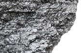 Piece of bituminous coal with sharp edge — Stock Photo