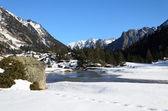 Marcadau-tal im winter pyrenäen — Stockfoto