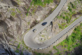 Serpentine road of Trollstigen in the Norwegian mountains. — Stock Photo
