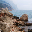 Stock Photo: Crimean seashore in off-season