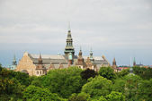 View of Stockholm with park and palace. — Stock Photo