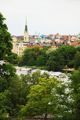 View of Stockholm with park and river. — Стоковое фото
