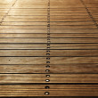 Stock Photo: Floor boards of Zoutkamp's wood pier