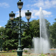Sultry summer in the city park, Toulouse — Stock Photo