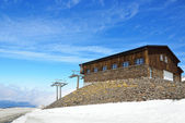 Spanish ski resort in spring, Andalusian Sierra Nevada — Stock Photo
