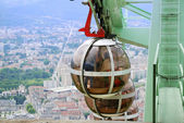 Overhead cable cars of Grenoble. — Stock Photo