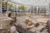 Spectacular remains of Roman amphitheater in Zaragoza — Stock Photo