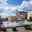 Stock Photo: Market place of Kajaani in sunny day