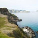 ������, ������: Steep shore of Soroya in summer