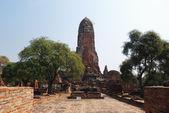 Main prang of the ancient Buddhist temple. — Foto de Stock