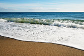 Sandy beaches of the Mediterranean coast — Stock Photo
