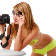 Sexy girl with camera — Stock Photo #45452793
