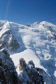 Glacier on the slope in the winter Alps — Foto de Stock
