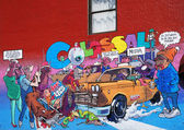 Graffiti in the city New York — Stock Photo