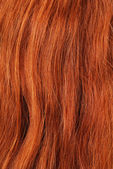 A close-up view of red hair — Stock Photo