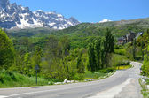 Mountain road in the Spanish Pyrenees — Stockfoto