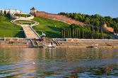View of the ancient Russian city Nizhny Novgorod — Stock Photo