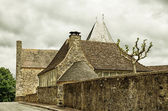 French medieval town Audrix — Stock Photo