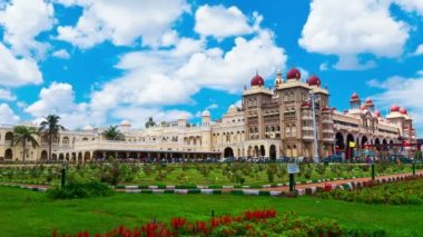Mysore. The main palace complex. time-lapse — Stock Video